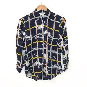 Anthropologie - Zoologist Cloud Print Button Down